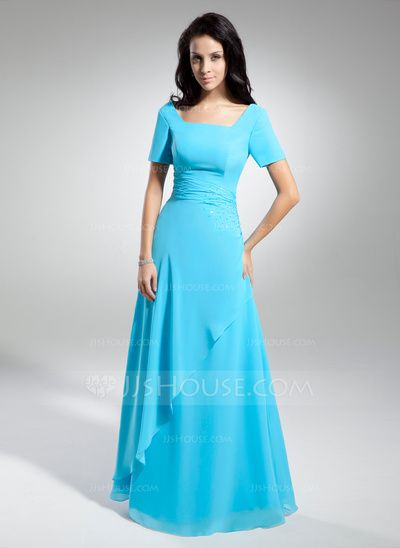 Mother of the Bride Dresses - $112.29 - A-Line/Princess Scoop Neck Floor-Length Chiffon Mother of the Bride Dress With Ruffle Beading (008014950) http://jjshouse.com/A-Line-Princess-Scoop-Neck-Floor-Length-Chiffon-Mother-Of-The-Bride-Dress-With-Ruffle-Beading-008014950-g14950?ver=n1ug2t&ves=vnlx6