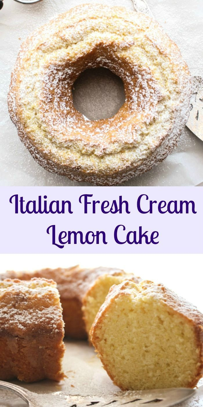 Italian Fresh Cream Lemon Cake, an easy made from scratch cake recipe, the perfect homemade breakfast, snack cake. An Italian sweet cake. Enjoy! anitalianinmykitchen.com