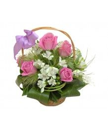 Cosuri de flori Cos cu trandafiri ciclam