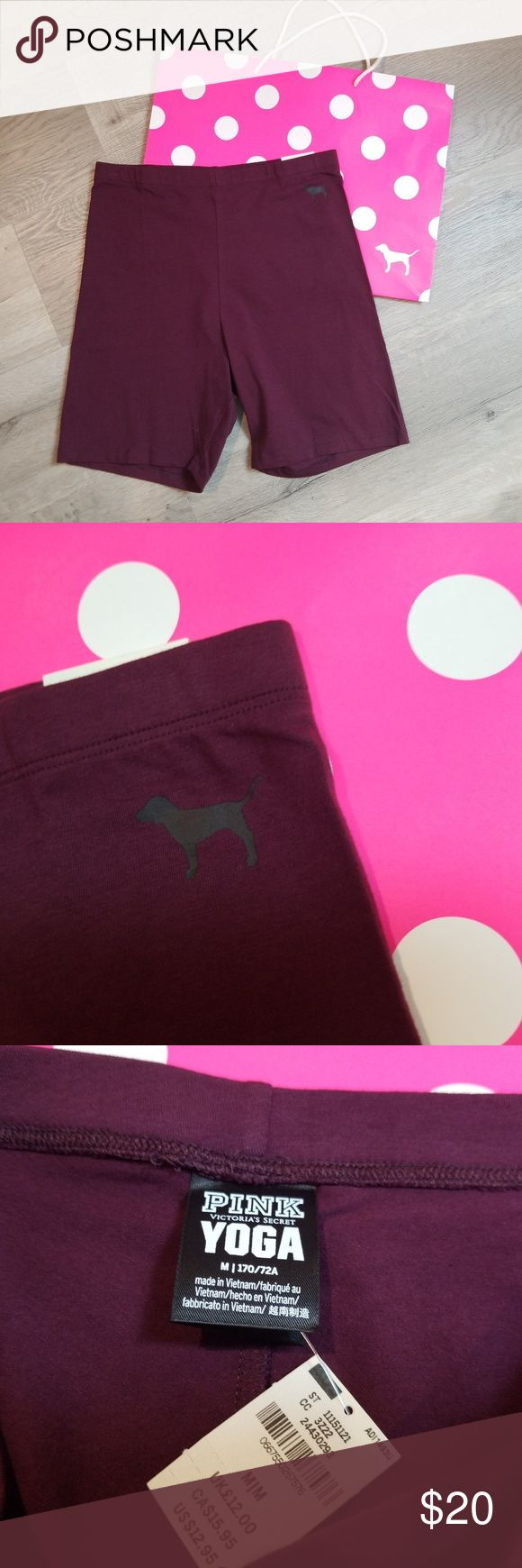 VS Pink bike shorts HIGH WAIST medium medium purplish red ( color is called eggp…   – My Posh Picks