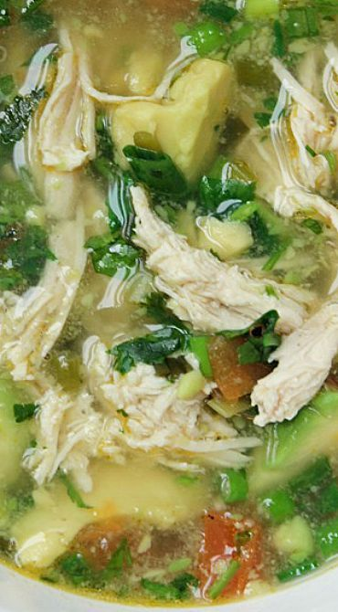 Kip-avocado soep