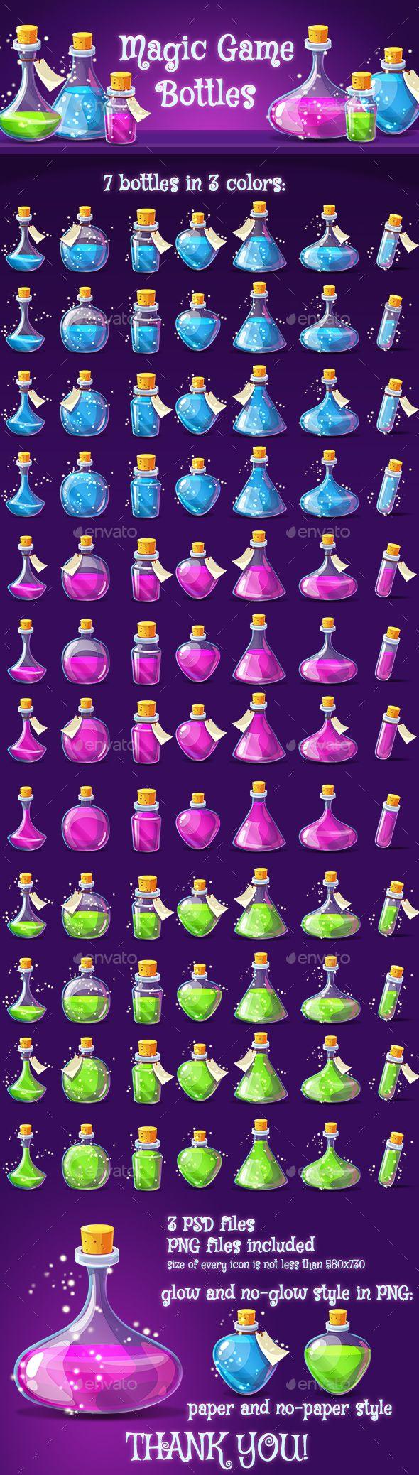 Magic Poison Game Icons Set