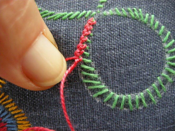 Queenie's Needlework--What an interesting stitch!