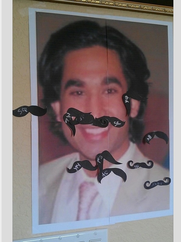 """We are totally doing this but """"Pin the Goatee on the Groom""""! This would be so funny!"""