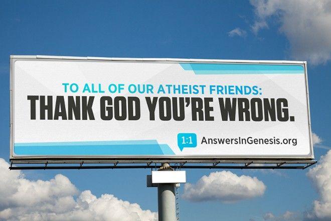 Criacionistas mandam recado para os ateus – graças a Deus vocês estao errados http://www.bluebus.com.br/criacionistas-mandam-recado-ateus-gracas-deus-vcs-estao-errados/