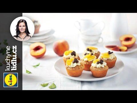 Broskvové muffiny - Markéta Krajčovičová - RECEPTY KUCHYNE LIDLU - YouTube