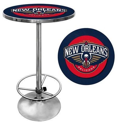NBA New Orleans Pelicans Chrome Pub Table