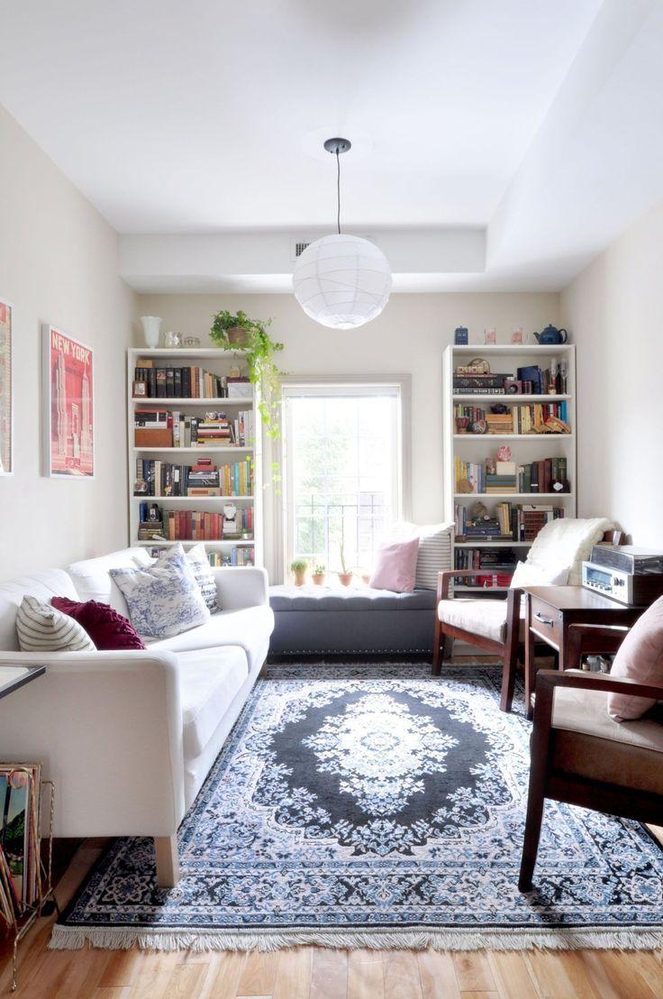 Image result for tiny narrow living room ideas | Apartment ...