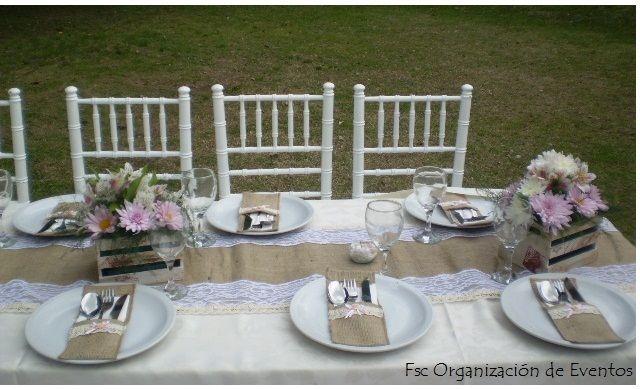 Ambientación de mesas