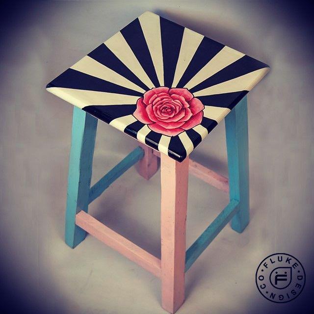 #stool #wooden #furniture #rose #rays #graphic #unique #bespoke #handpainted #fashion #lifestyle #accessory #designer #fashionista #dreamer #accessories #accessorize #art #artist #design #decor #flukedesign #handpaint #handcraft #handcrafted #limitededition #custom #custommade