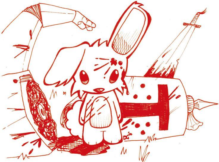 Killer Rabbit of Caerbannog! Monty Python and The Holy Grail.
