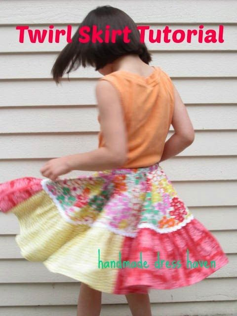 Here is an easy way to make a circle skirt for a little girl.  This will be a very twirly skirt!    To...