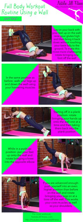 Workout with a WALL! This workout is harder than it looks and will REALLY give you a workout!! Click on the image to view the video version
