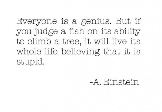 spoken like a genius. each person has to discover what they have to offer to our world.