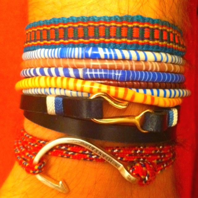 #WristWar: 2x the @Mainsai @topshop Brazil Bands and a friendship bracelet. Piles for summer.: Brazil Bands
