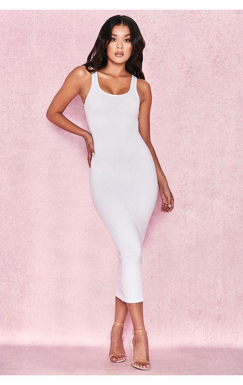 6f38ac592a0 Clothing   Bodycon Dresses    Tomlin  White Midi Length Vest Dress ...