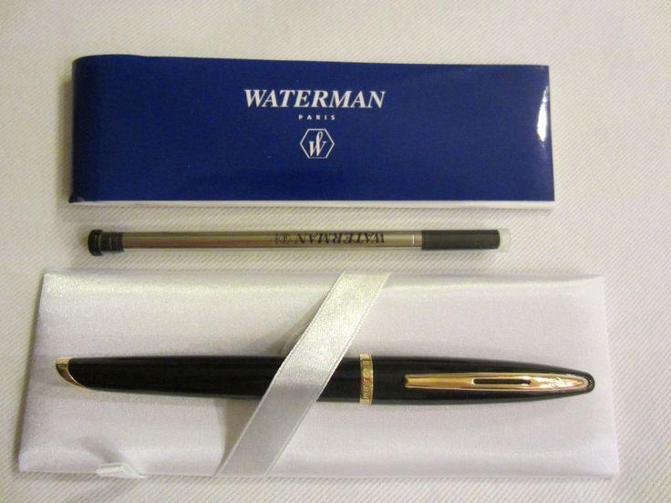 Waterman Paris Pen Emboss Gold Blue Leather Box