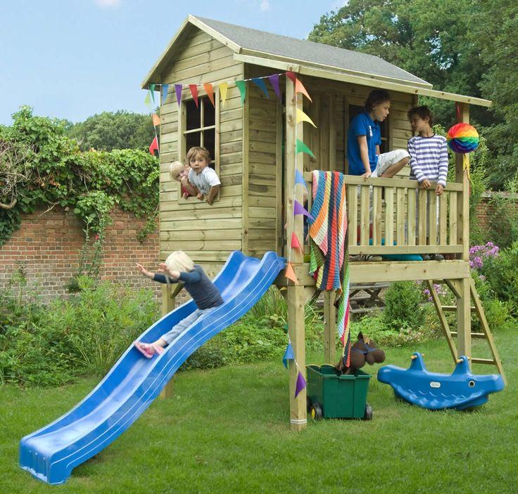 Houten kinderspeelhuisje / speeltoren model Rainbow Park van Bear County