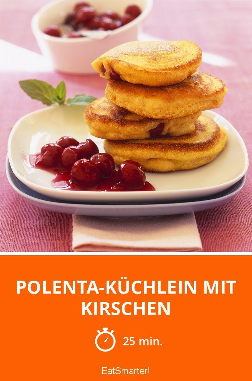 Polenta-Küchlein mit Kirschen