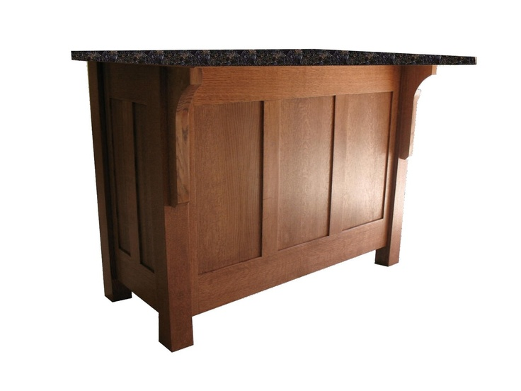 Mission Style Kitchen Island