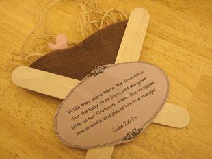 Kid's manger craft