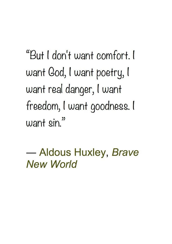 an essay on aldous huxleys brave new world Brave new world by aldous leonard huxley 18 de maio de 2002.