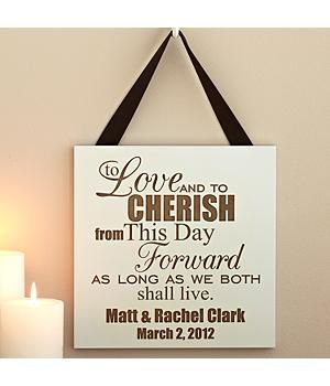 Wooden Anniversary Wedding Vows Plaque Perfect For Your 5th As Traditionally That Is Wood