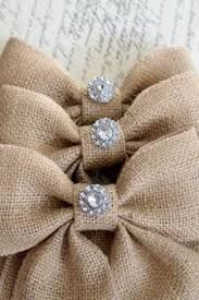 Burlap bows with baubles