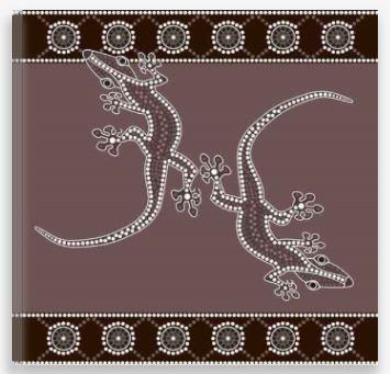 Aboriginal Artwork Print – Geckos