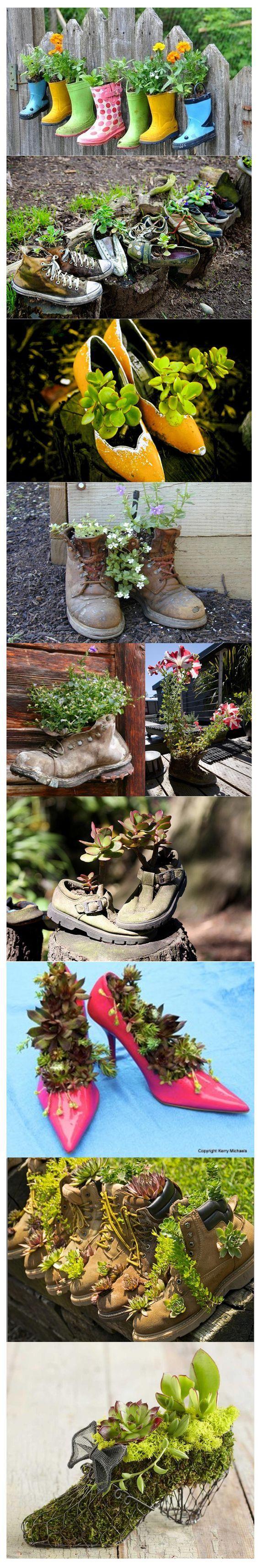 decoratiuni din pantofi shoe planters 10