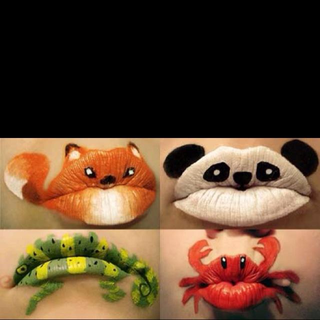 Lip Artwork!  so cute for Halloween