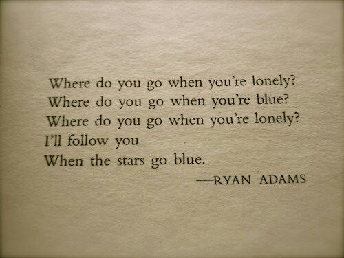 when the stars go blue...originally written and recorded by Ryan Adams...