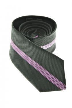 cravate 2 couleurs, noir et lila