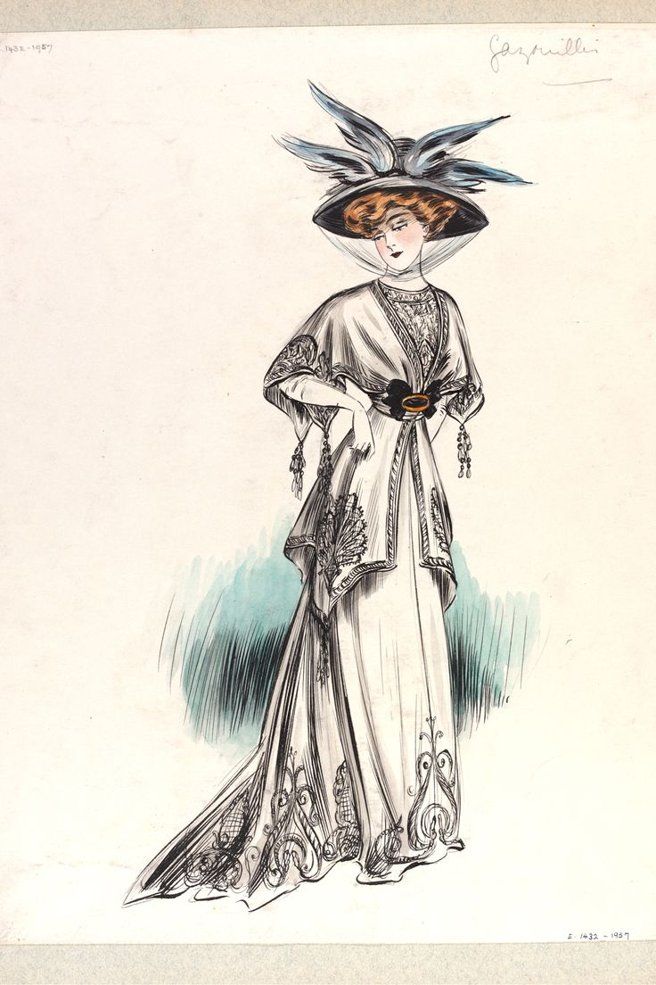 Jeanne Paquin (1869-1936) Fashion drawing & illustration: 1900s - Victoria and Albert Museum
