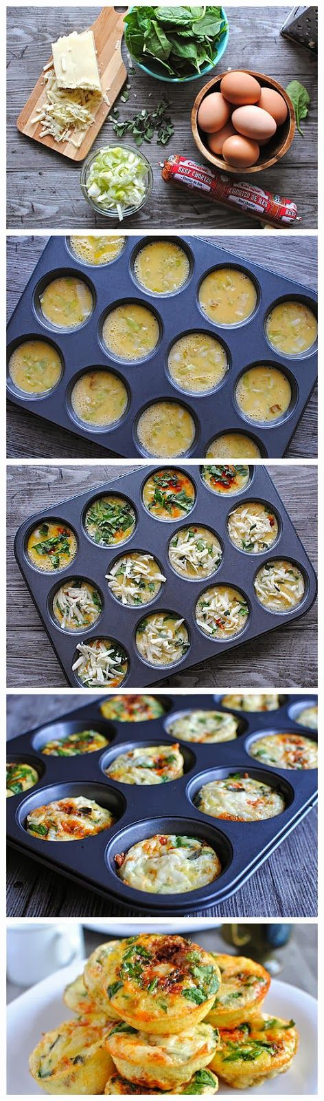 Mini Frittata Brunch Bar - yummykey