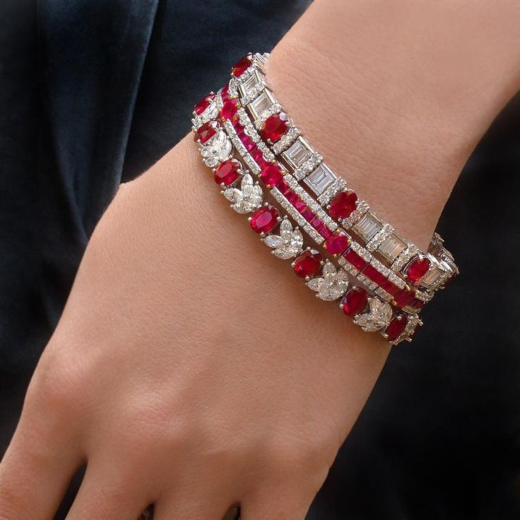 bracelet nico bridal wedding sparkles stackable cz set red grande carat cubic channel silver zirconia beloved cuff crystal ruby fashion bangles products bangle