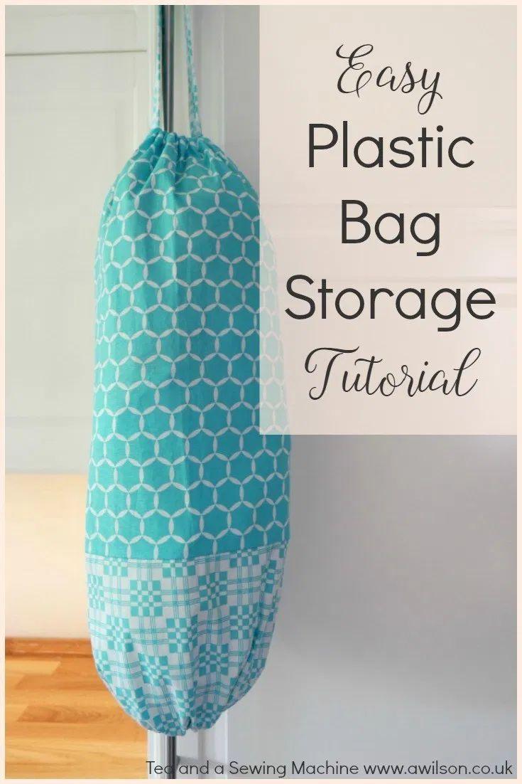 Tutorial zur einfachen Aufbewahrung von Plastiktüten