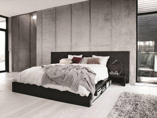 T te de lit design industriel chambre pinterest - Tete de lit style industriel ...