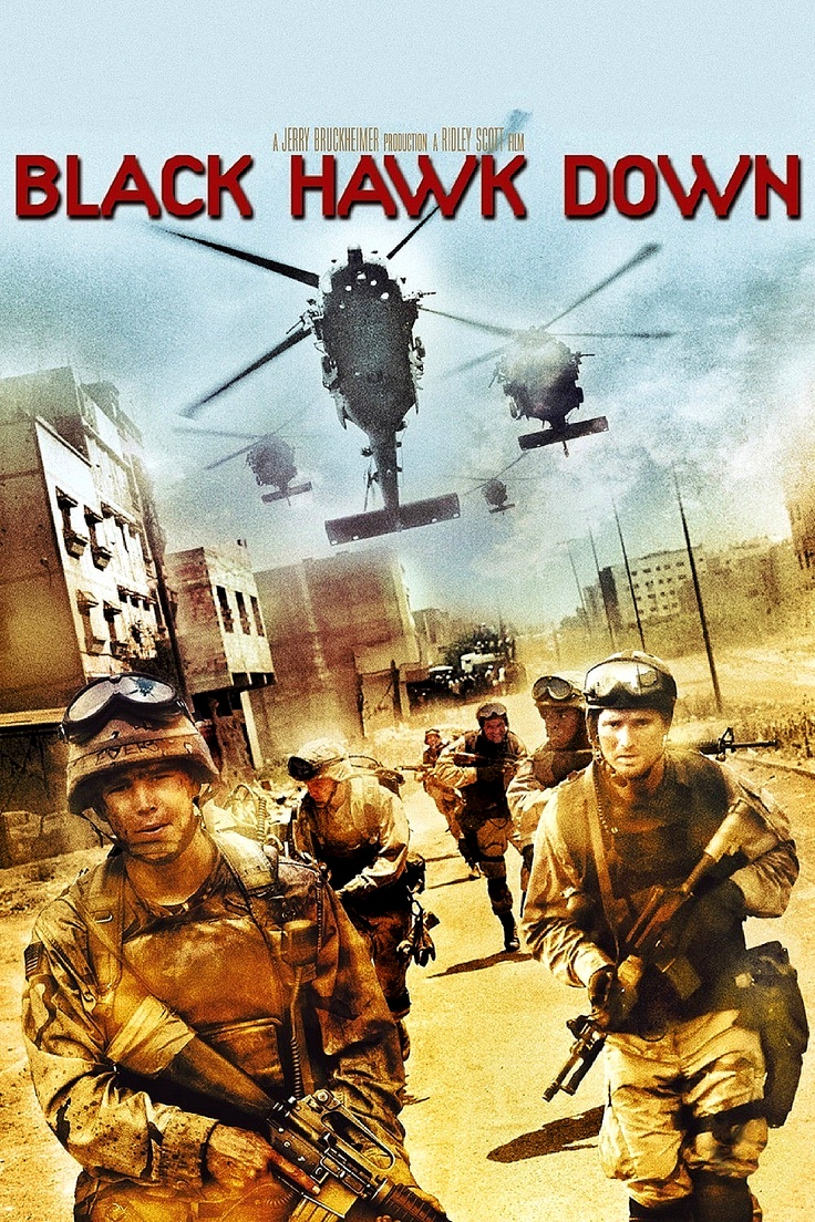 "Black Hawk Down. - I loved it, I hated it, I watched it twice and wondered why. Just why. ~K  .....""a gripping true story about bravery, camaraderie and the complex reality of war."""