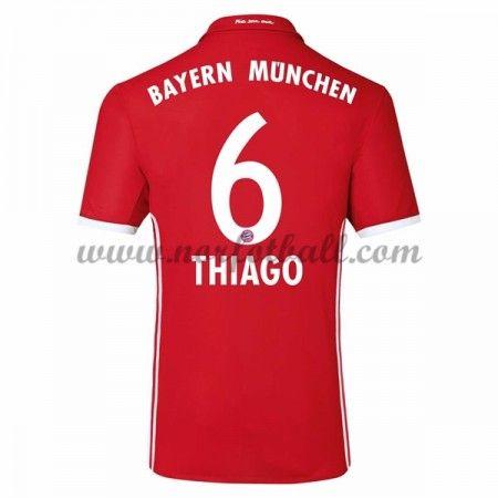 Billige Fotballdrakter Bayern Munich 2016-17 Thiago 6 Hjemme Draktsett Kortermet