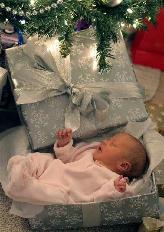Our Christmas Present Christmas photo idea