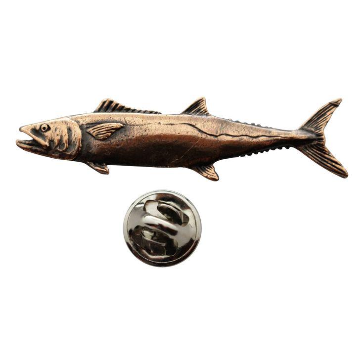 King Mackerel Pin ~ Antiqued Copper ~ Lapel Pin