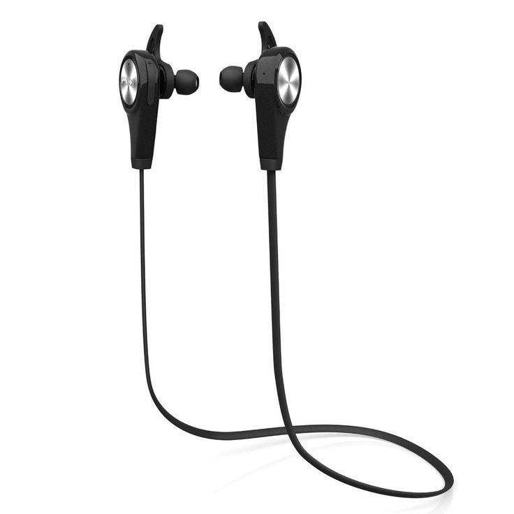 Auriculares Bluetooth, auriculares inalámbricos Auriculares Bluetooth con micrófono Auriculares deportivos para iPhone Sony Samsung motorola LG (negro)