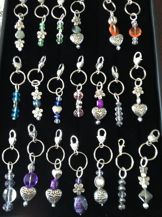 These charms look great hanging on a zipper, a purse or you to hold keys. Approximately 4 long. They are useful as well as decorative. Comes with