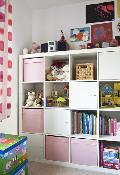 For the playroom. brill IKEA storage shelves