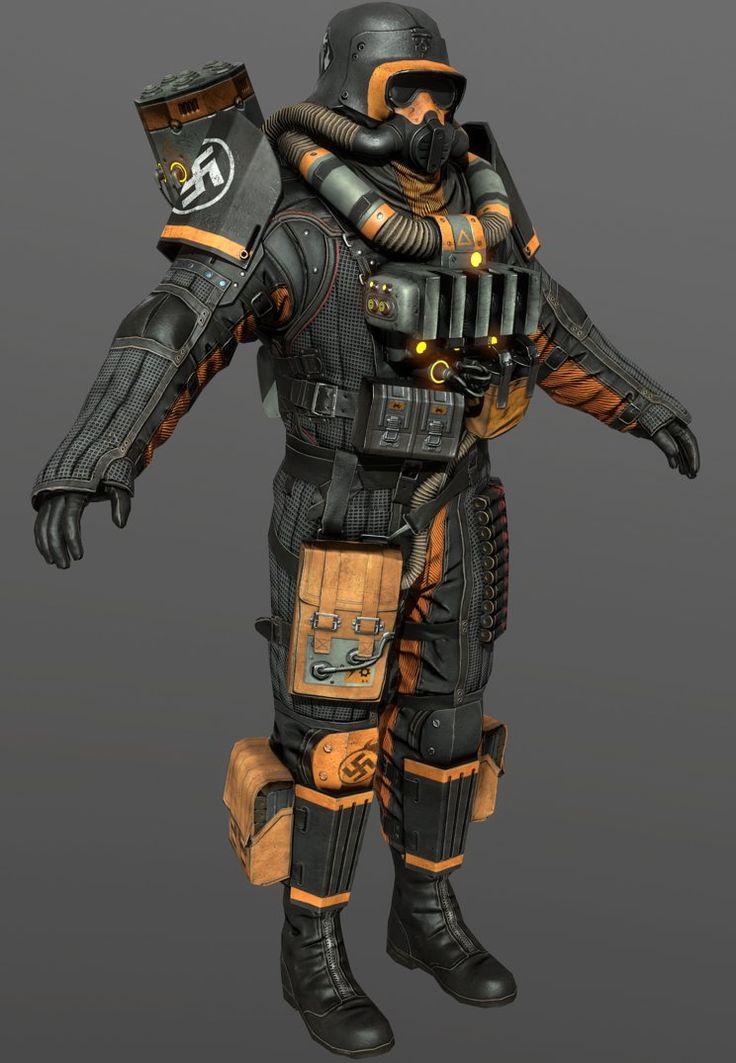 Wolfenstein The New Order Firetrooper by luxox18 on DeviantArt