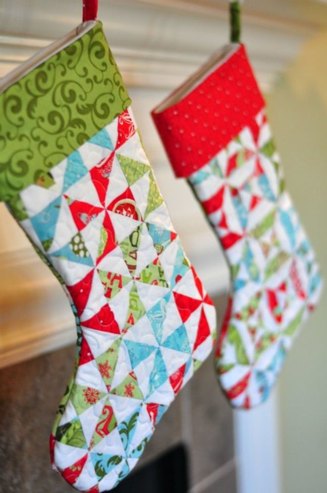 Christmas Stockings If You Like Them Pinit For Later Christmas Stunning Quilted Christmas Stocking Pattern