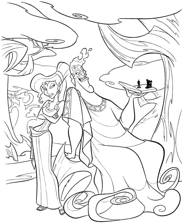 hercules coloring book pages zeus and hera