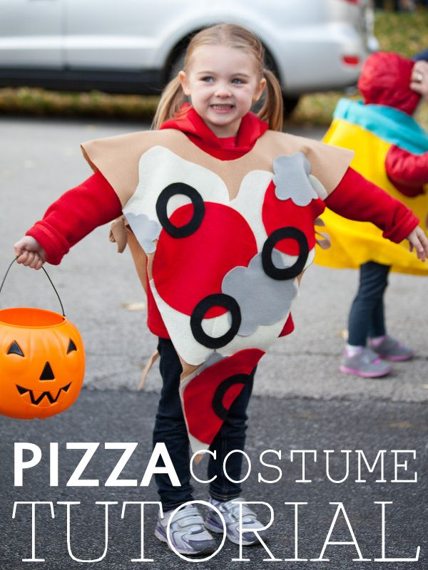 Pizza Costume Tutorial NO SEW & only 7.50 to make! www.the1sthundred.com