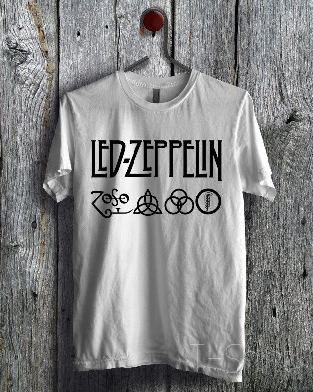Led Zeppelin Symbol & Logo Black Tee - D1zL Unisex Tees For Man And Woman / T-Shirts / Custom T-Shirts / Tee / T-Shirt